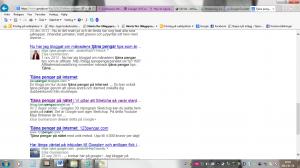 fösta sidan på google om man söker tjäna pengar på nätet