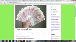 Skärmdump på gamla bloggens sidhuvud