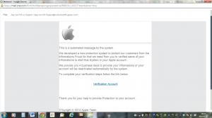 Bluffmail om Appel konto