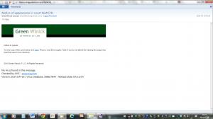 mail innehållande länk till trojan Green Winick