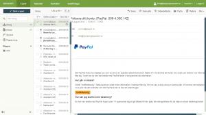 bluffmail som utger sig att komma från Paypal