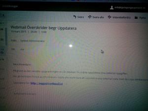 Bluffmail webmail överskrider begr uppdatera.