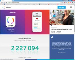 skärmdump på Swish hemsida