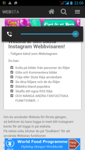 mobil screenshot websta.me