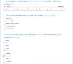 Skärmklipp surveyMonkey