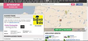 skärmklipp Butikskartan.se BlueSwede Trading